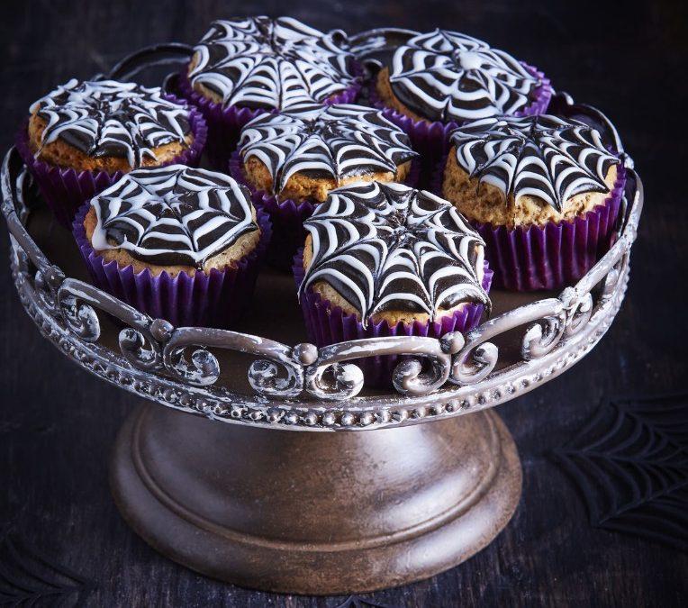 Spindelvævs cupcakes